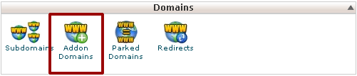 Manual Cpanel - Domains - Addon Domains