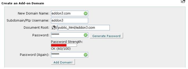 Manual Cpanel - Domains - Addon Domains