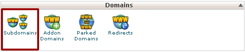 Manual Cpanel -- Domains -- Subdomain