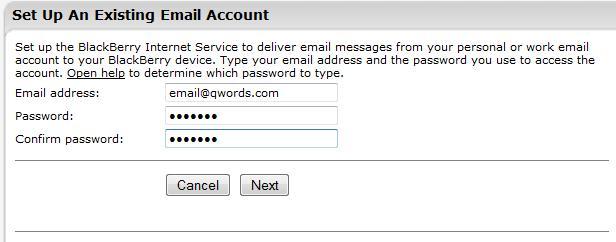 Masukkan Email Detail
