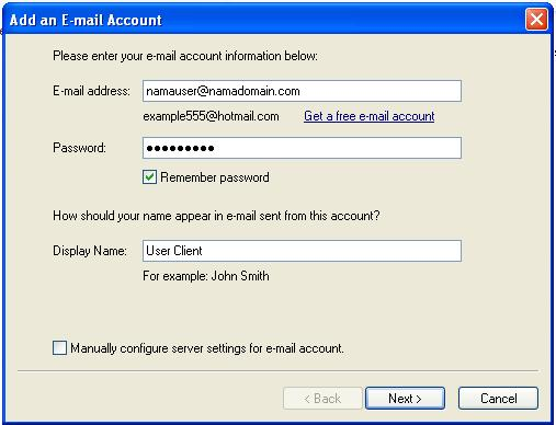 Konfigurasi Client di Windows Live Mail