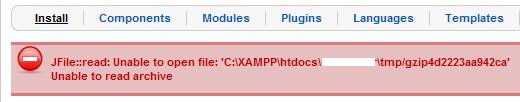 Install Module/Component/Plugin