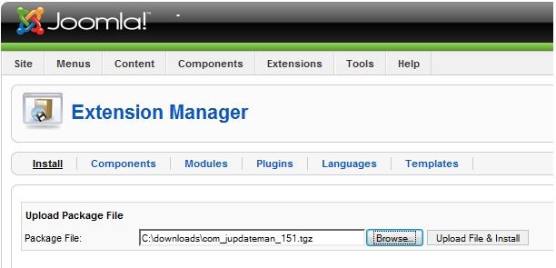 Install Module/Component/Plugin (Extensions) di Joomla