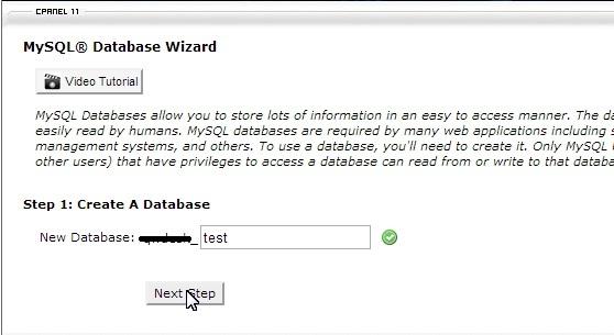 Database MySQL di cPanel