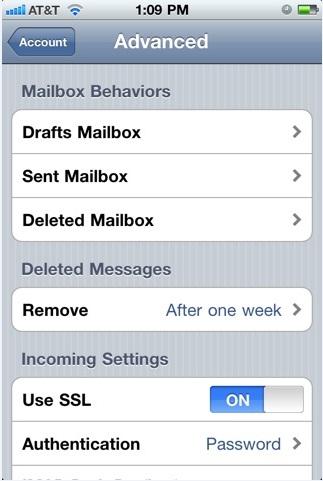 Email hosting di Iphone/Ipad