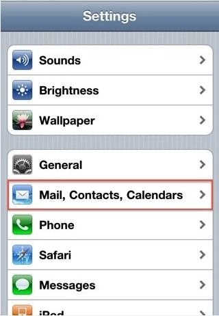 Memasang Akun Email hosting di Iphone/Ipad