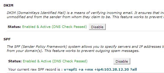 6 - Mengaktifkan fitur DKIM dan SPF email di cPanel