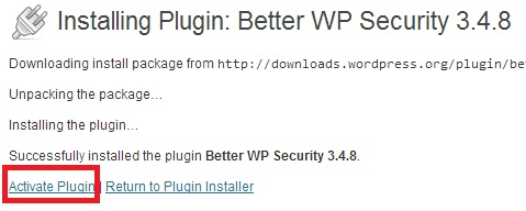 activateplugin - Cara install dan uninstall plugin di WordPress