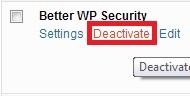 deactivateplugin - Cara install dan uninstall plugin di WordPress