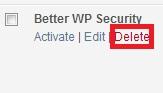 deleteplugin - Cara install dan uninstall plugin di WordPress