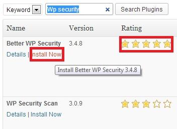 installnowwithrating - Cara install dan uninstall plugin di WordPress