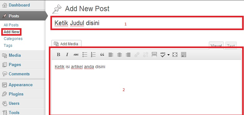 kotaknewpost -  Cara Membuat Posting di WordPress