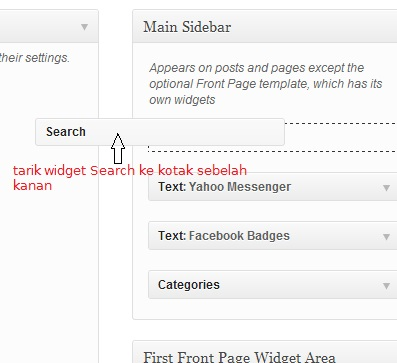 tarikwidget - Menambah Widget di WordPress