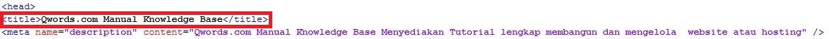 htmltitle - Meningkatkan SEO dengan Menentukan Judul Website