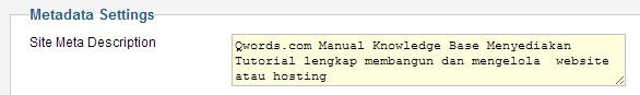 metadatajoomla - Meningkatkan SEO dengan Menggunakan Meta Tag