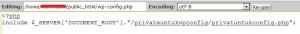 privateconfig - Tutorial Wajib Untuk Keamanan WordPress