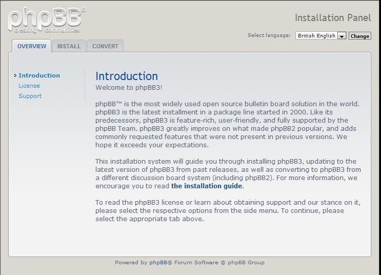 1 - Install phpBB secara manual