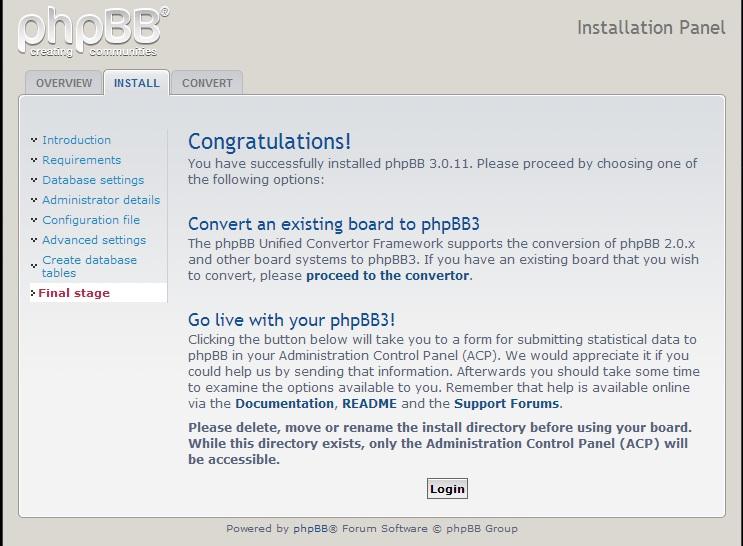 3 - Install phpBB secara manual