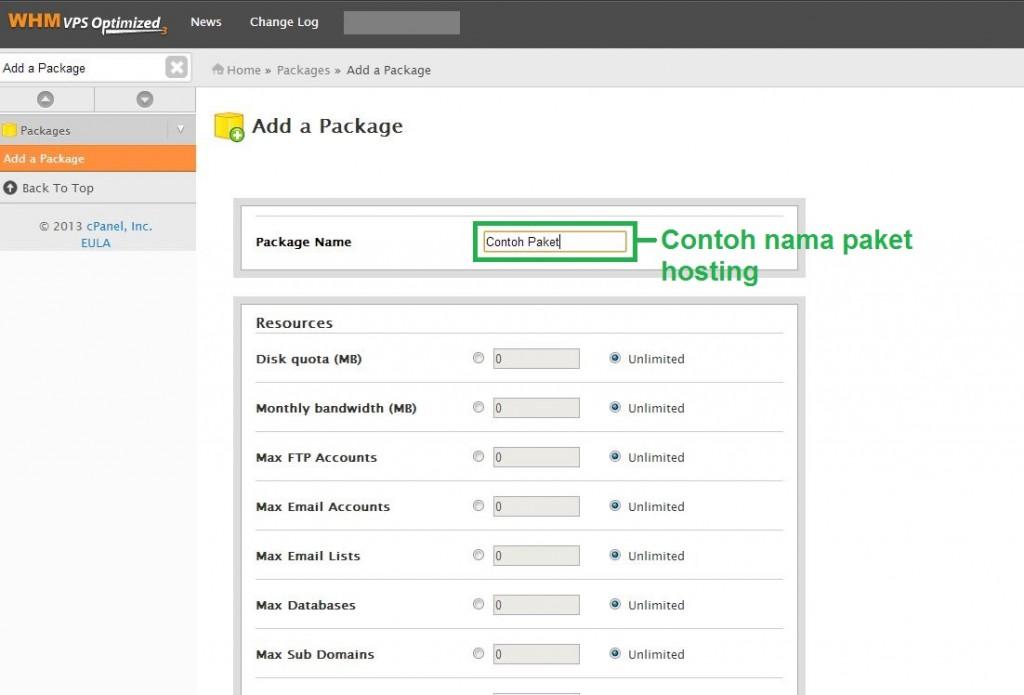 Capture1 - Cara membuat paket hosting dan membuat akun hosting di WHM Server