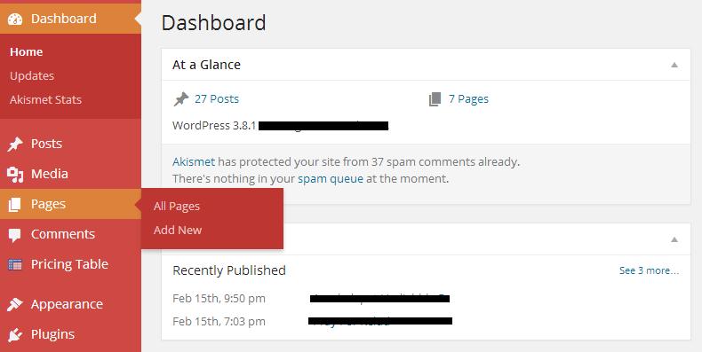 Page wordpress 1 - Merubah salah satu page menjadi halaman / page utama di CMS WordPress