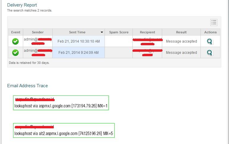 deliveryreport - Cara Mengetahui status pengiriman Email di Cpanel