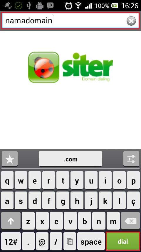 dialdomain - Cara menggunakan Siter (Call Domain)