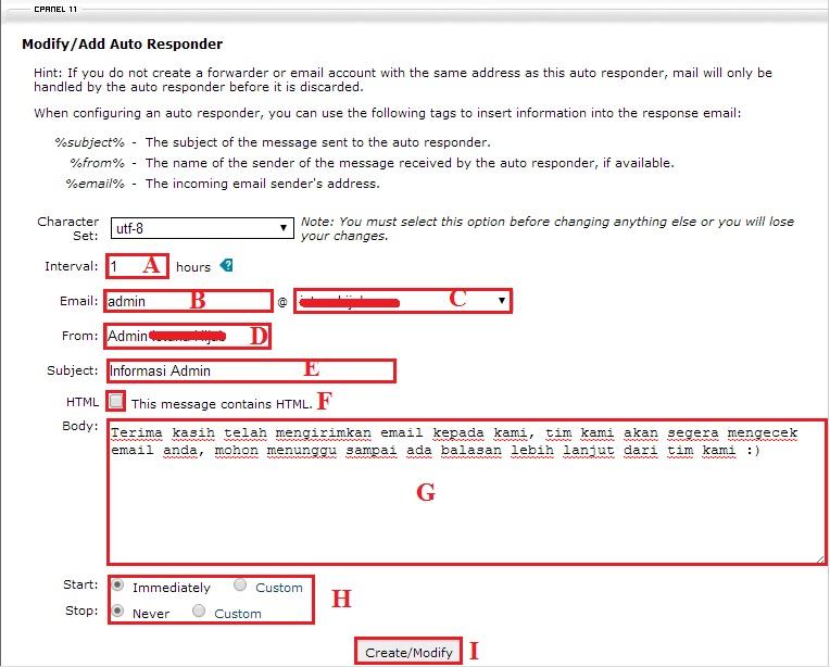 menuautoresponder - Membuat Pembalas email Otomatis (Auto Responder) di CPanel