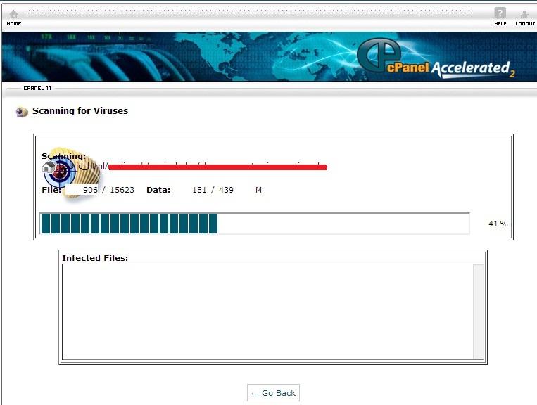 prosesscanning - Bersihkan Virus di Website anda dengan Virus Scanner CPanel