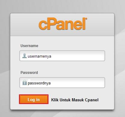 logincpanel - Tutorial Awal Menggunakan Hosting