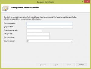 Request Certificates - Memasang SSL pada IIS