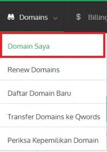 domainsaya - Manage Nameserver, Informasi Kontak Domain dan EPP Key di Portal.Qwords.com