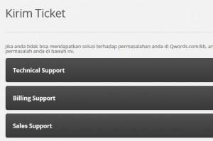 kirimtiket - Cara membuat Support Ticket di Portal.qwords.com