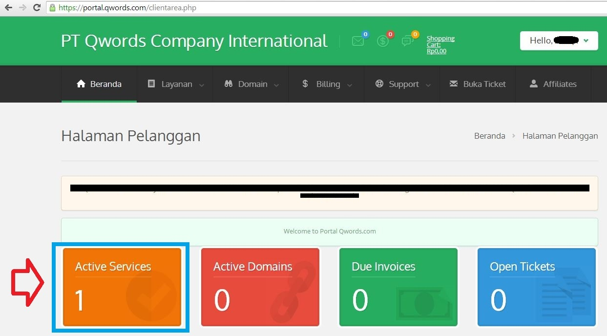 1 - Cara Upgrade/Downgrade Paket Hosting melalui Portal Pelanggan