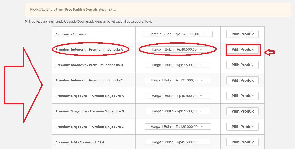 4 - Cara Upgrade/Downgrade Paket Hosting melalui Portal Pelanggan