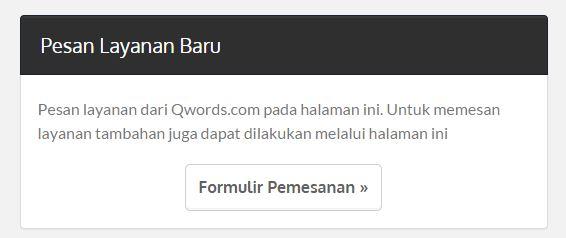pesanhosting - Pembayaran Hosting/Domain Cepat dan Mudah di Qwords.com