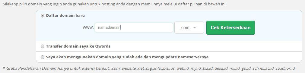 pilihdomain - Pembayaran Hosting/Domain Cepat dan Mudah di Qwords.com